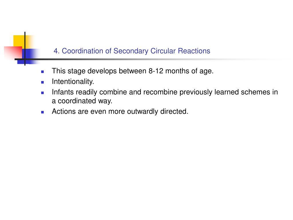 4. Coordination of Secondary Circular Reactions