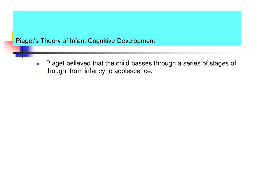 Piaget's Theory of Infant Cognitive Development