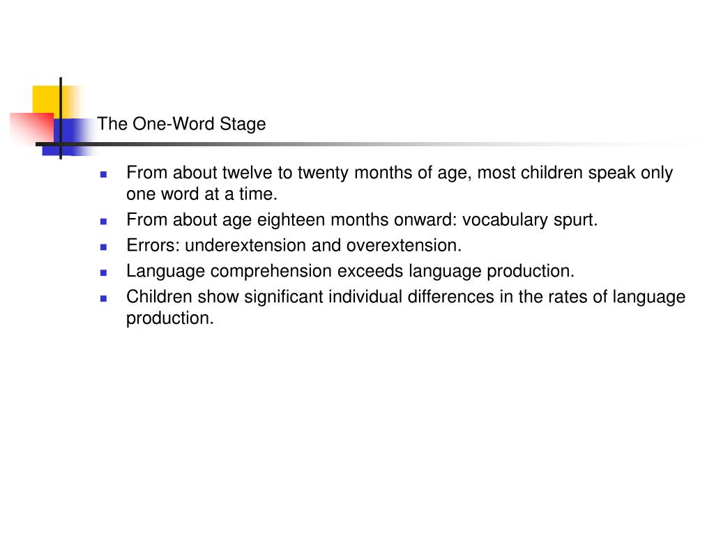 The One-Word Stage