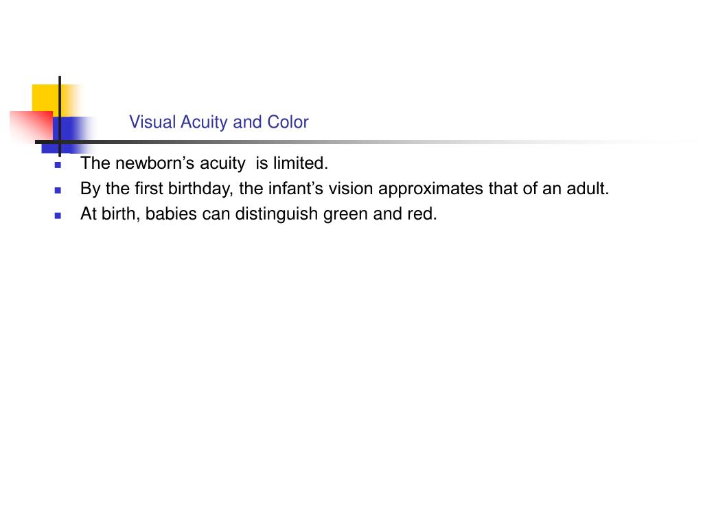 Visual Acuity and Color