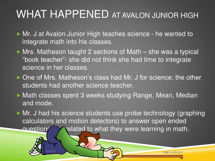 What happened at avalon junior high