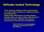 attitudes toward technology