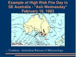 example of high risk fire day in se australia ash wednesday february 16 1983