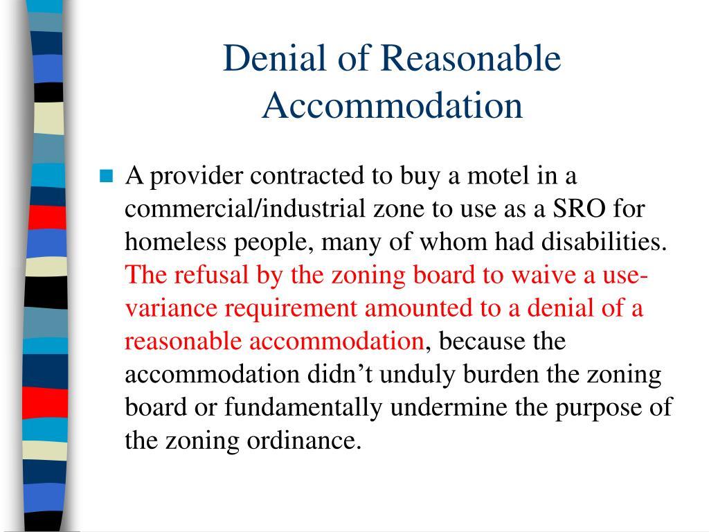 Denial of Reasonable Accommodation