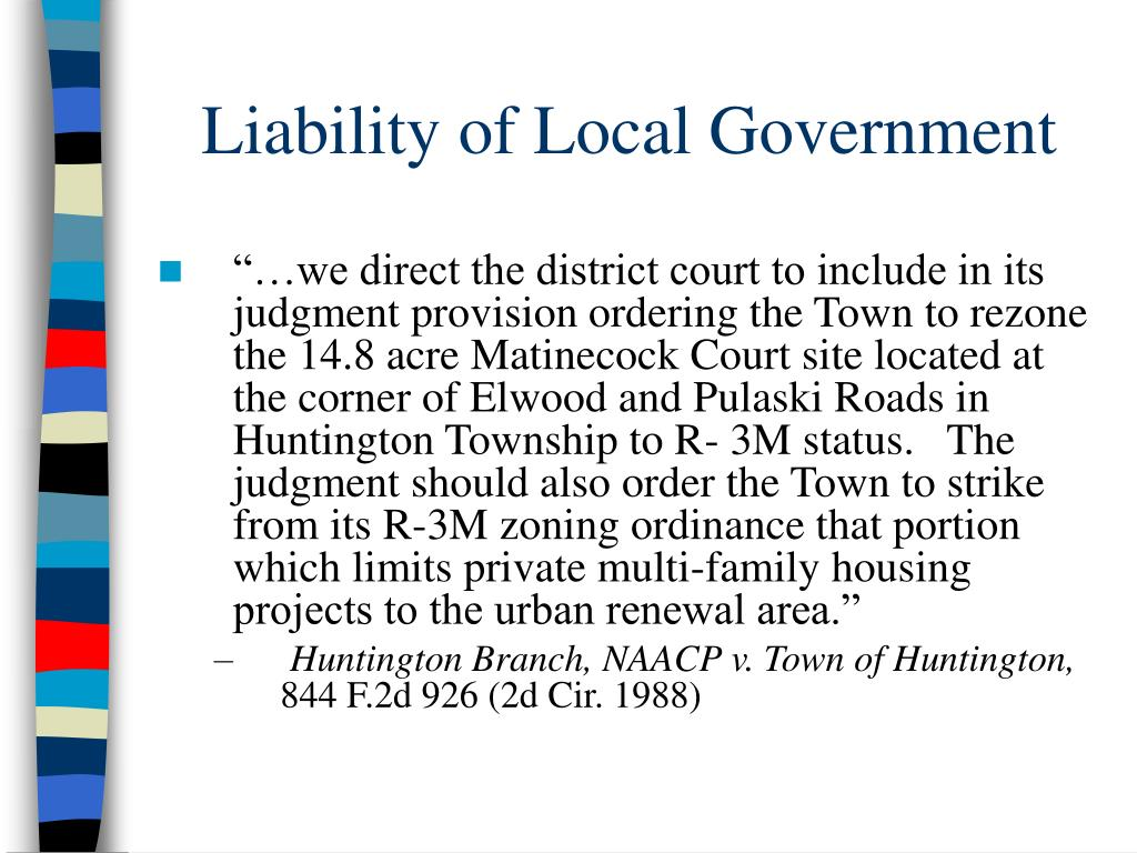 Liability of Local Government