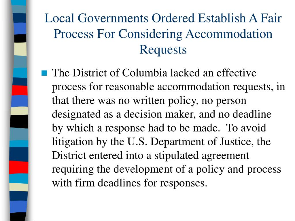 Local Governments Ordered Establish A Fair Process For Considering Accommodation Requests