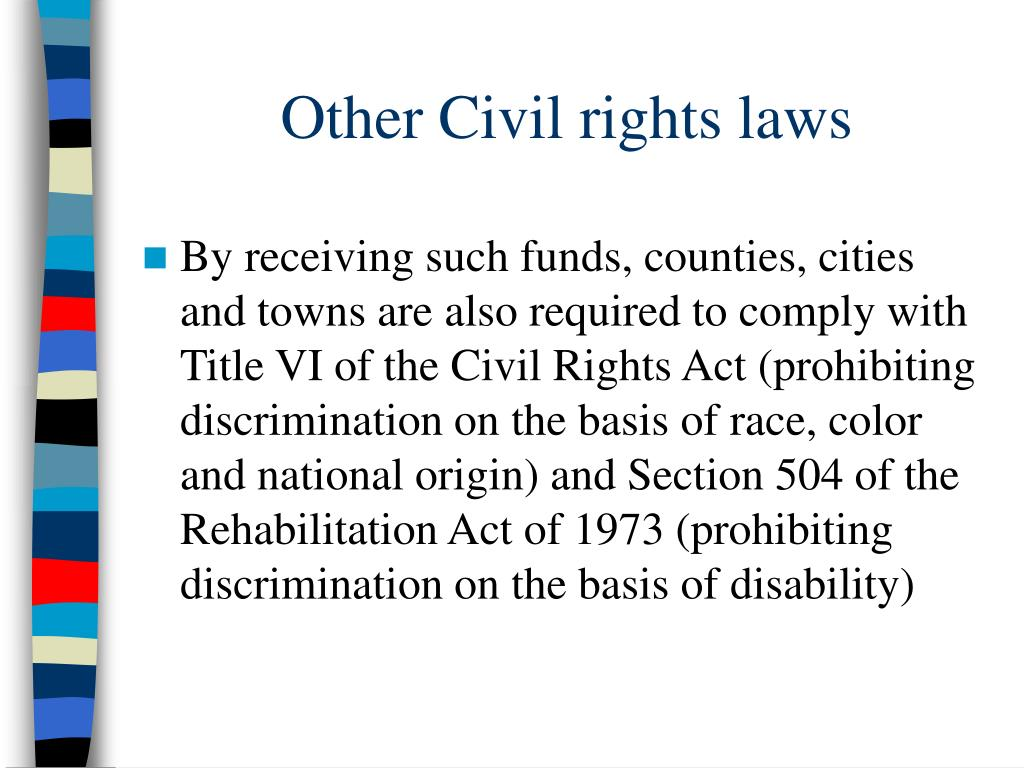 Other Civil rights laws