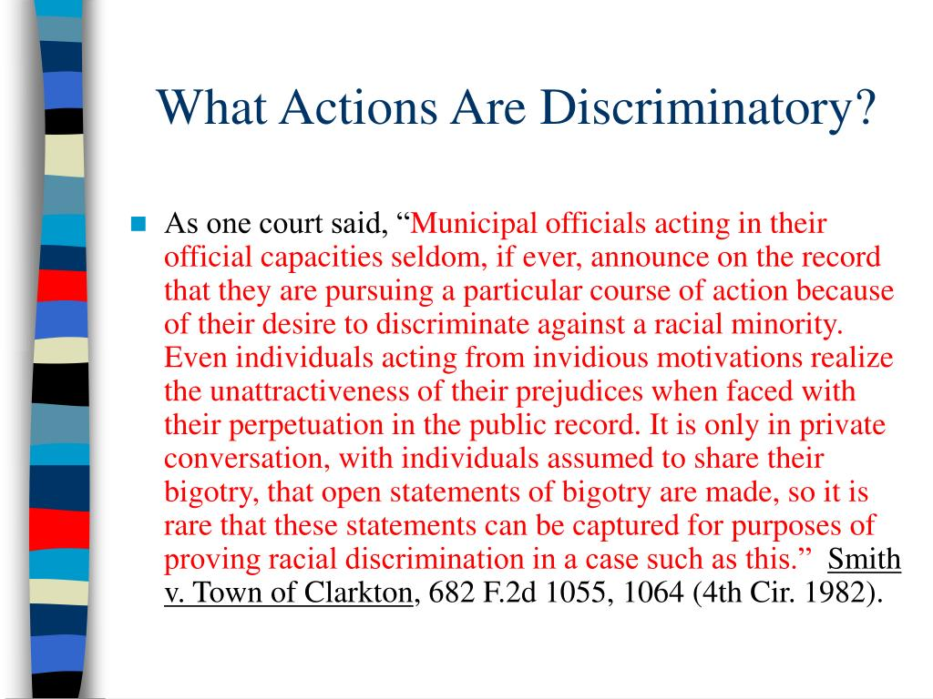 What Actions Are Discriminatory?