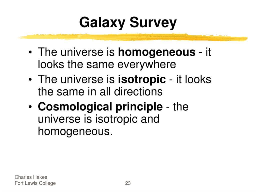 Galaxy Survey