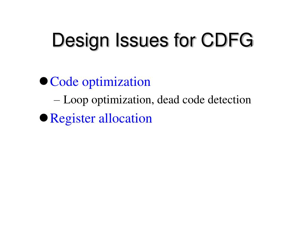 Design Issues for CDFG