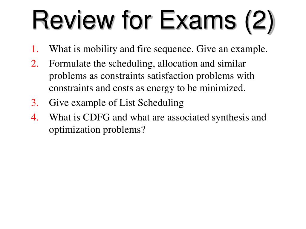 Review for Exams (2)