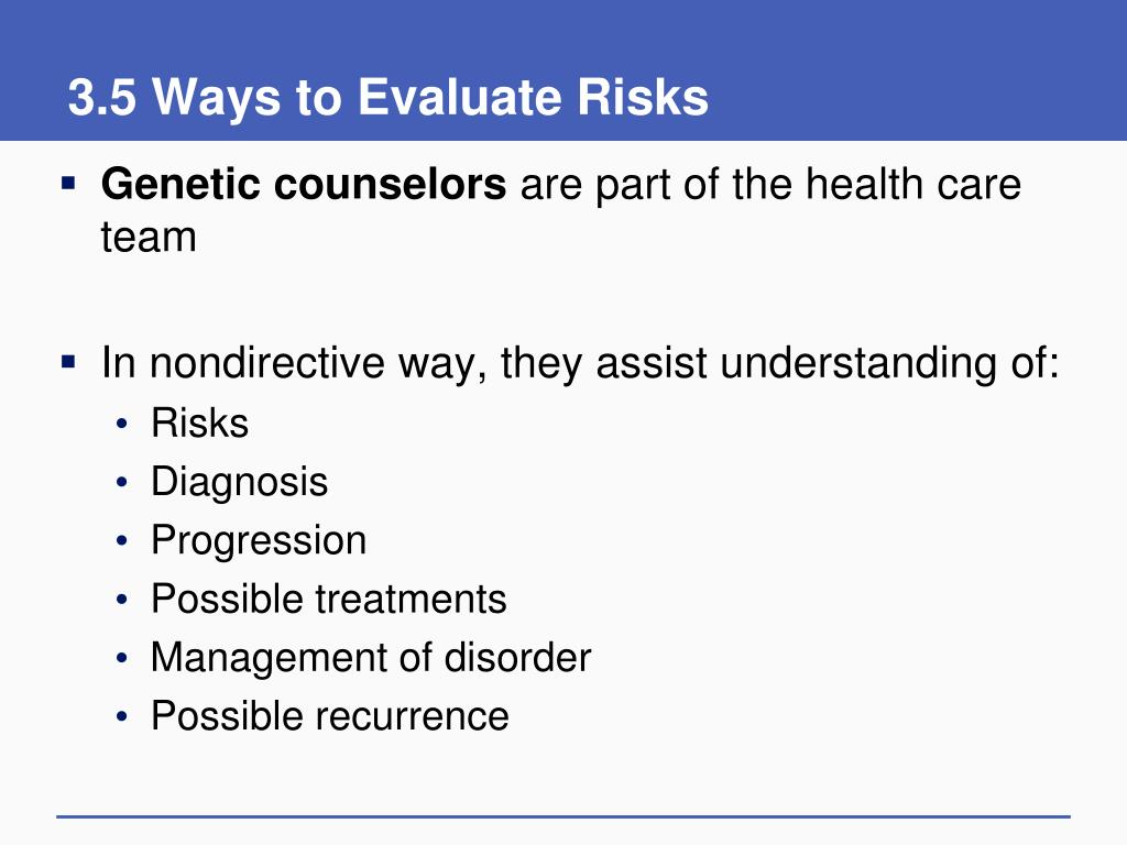 3.5 Ways to Evaluate Risks