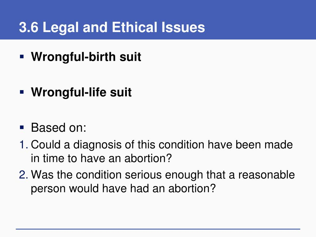 3.6 Legal and Ethical Issues