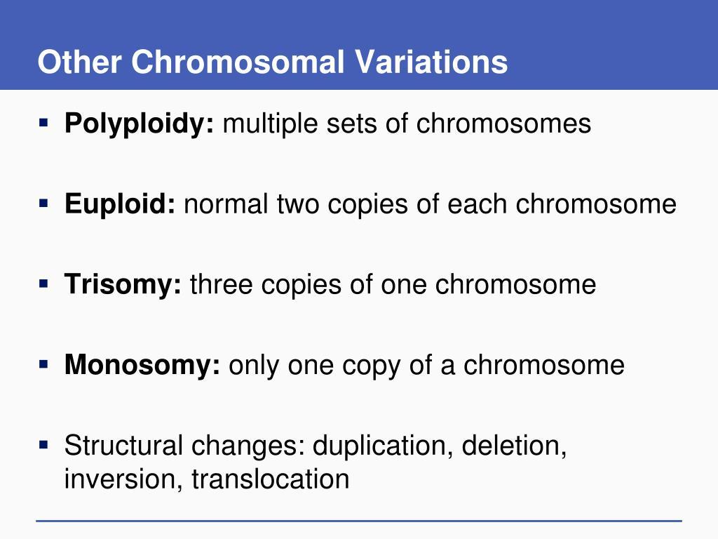 Other Chromosomal Variations