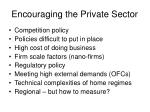 encouraging the private sector