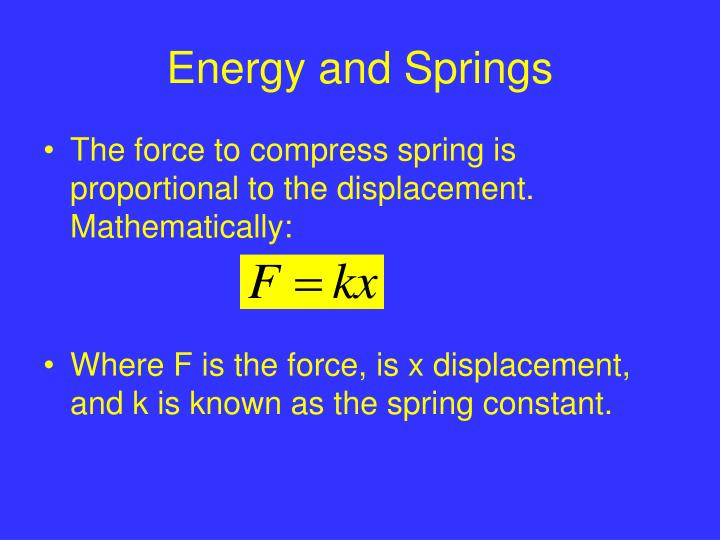 Energy and springs2