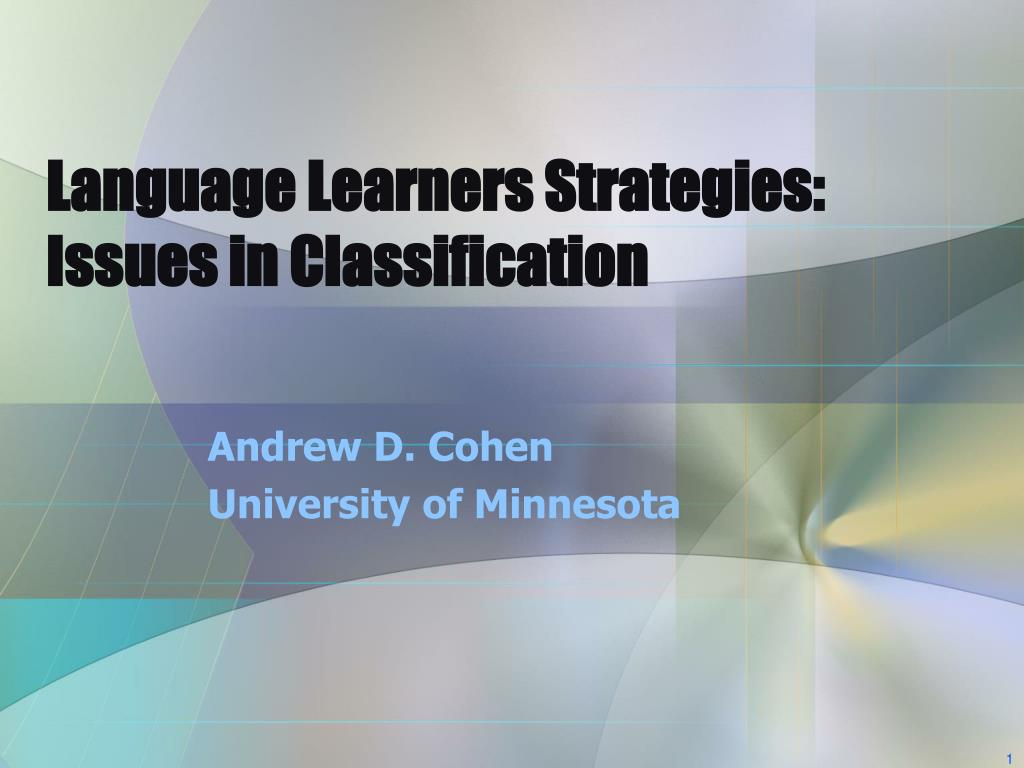 Language Learners Strategies: