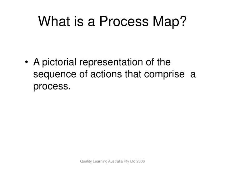 What is a process map