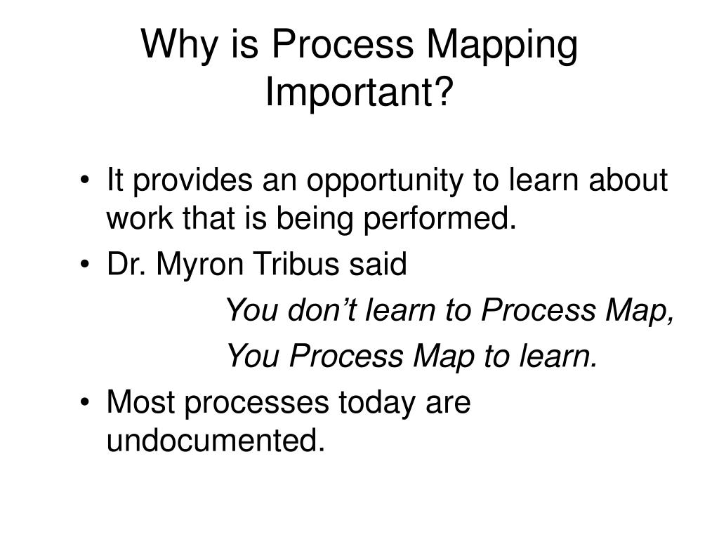Why is Process Mapping Important?