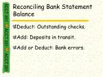 reconciling bank statement balance