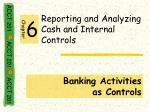 reporting and analyzing cash and internal controls4