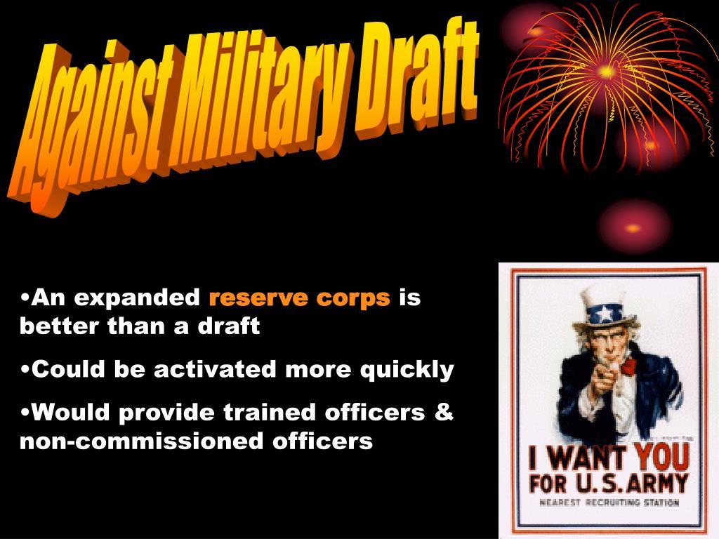 Against Military Draft