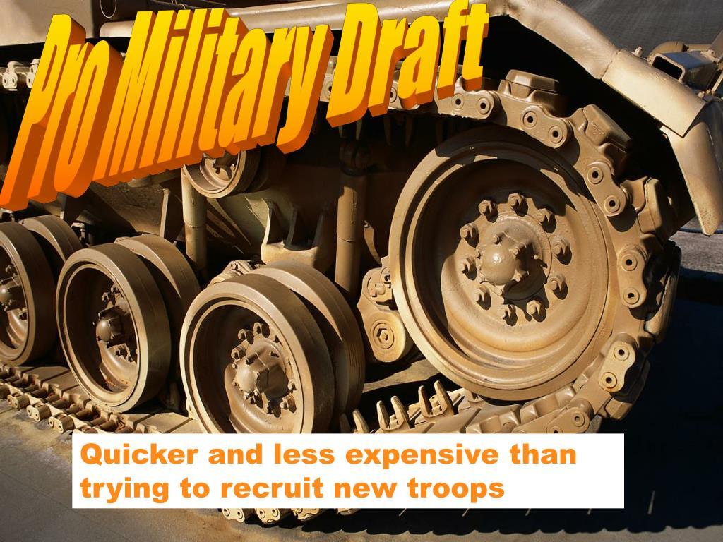 Pro Military Draft