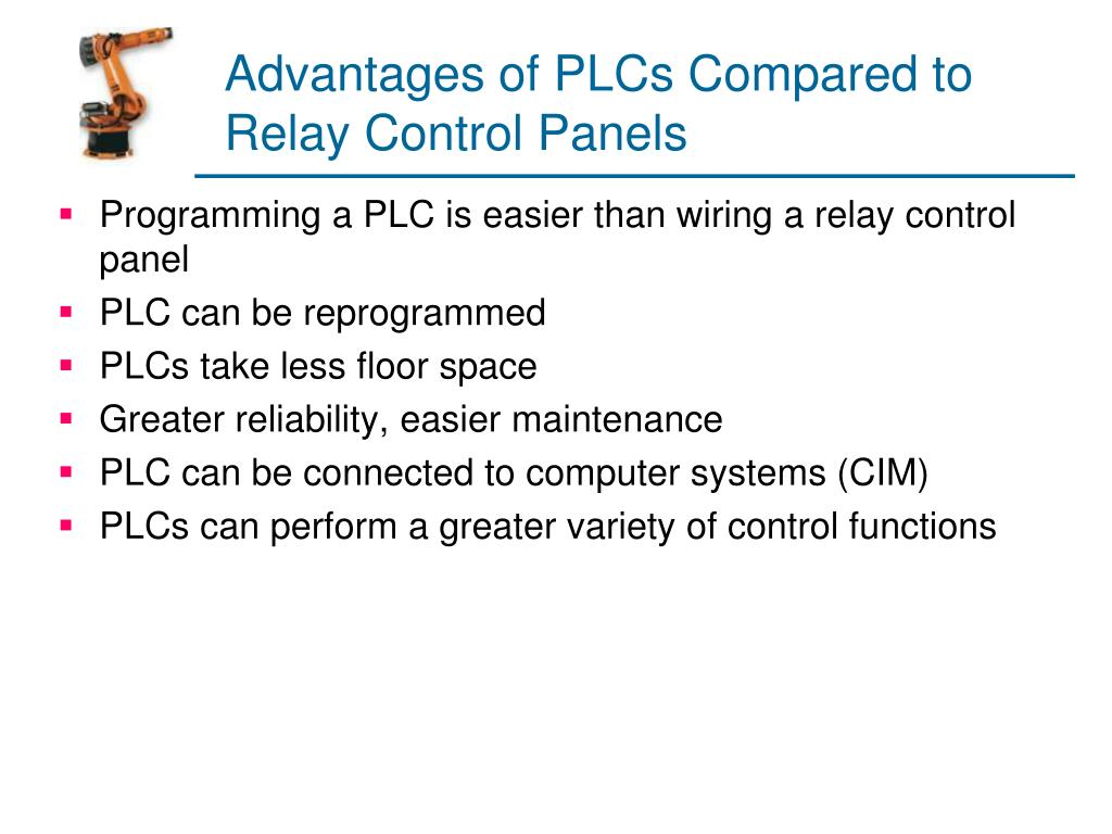 Advantages of PLCs Compared to