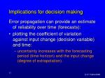 implications for decision making52