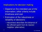implications for decision making54