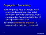 propagation of uncertainty33