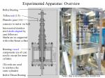 experimental apparatus overview