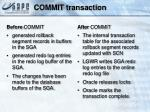 commit transaction