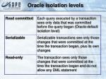oracle isolation levels
