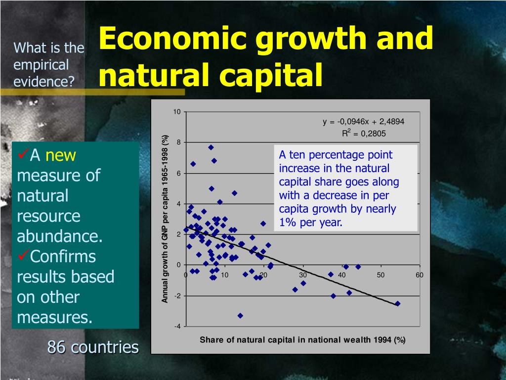 Economic growth and natural capital