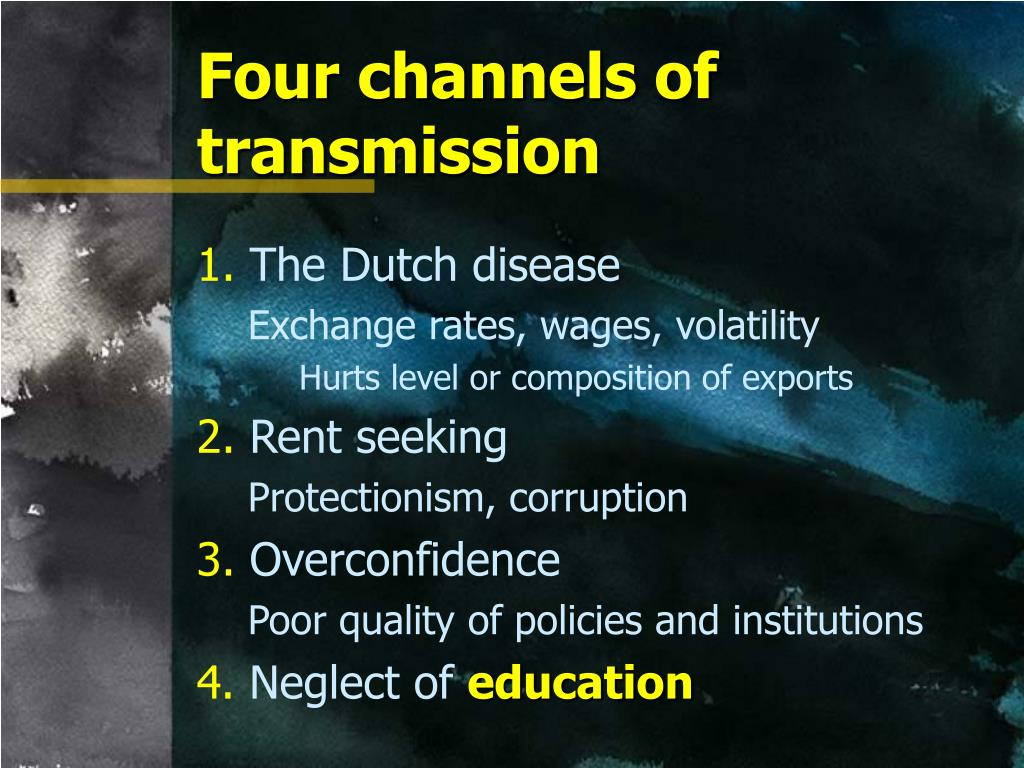 Four channels of transmission