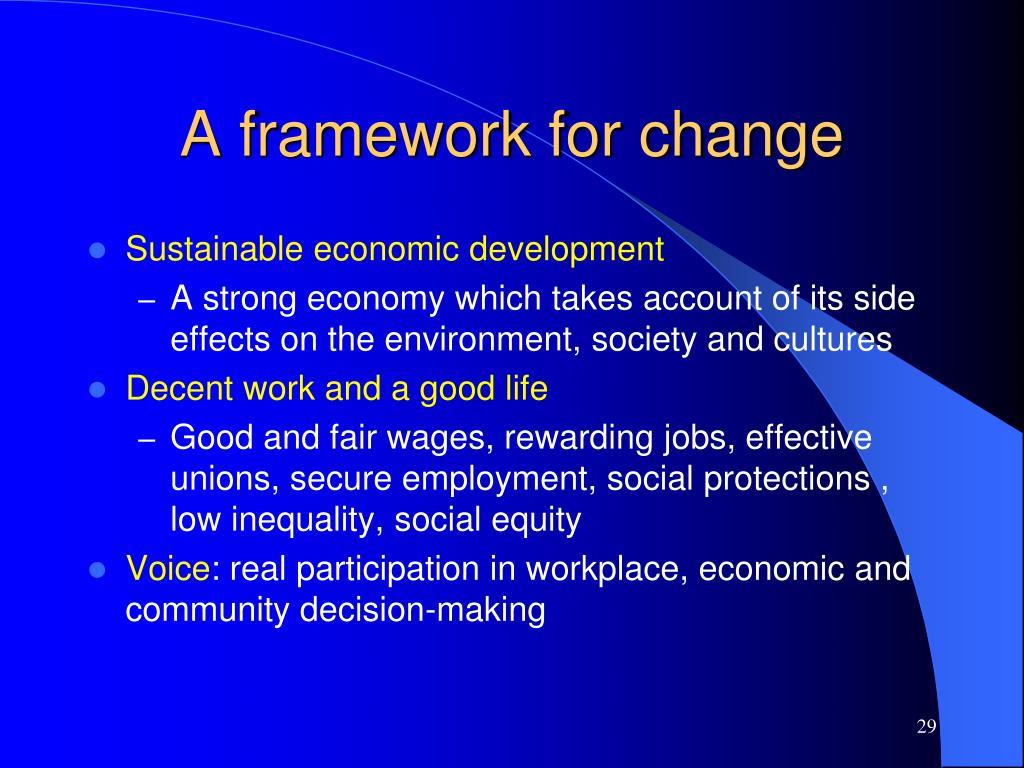 A framework for change