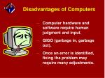 disadvantages of computers