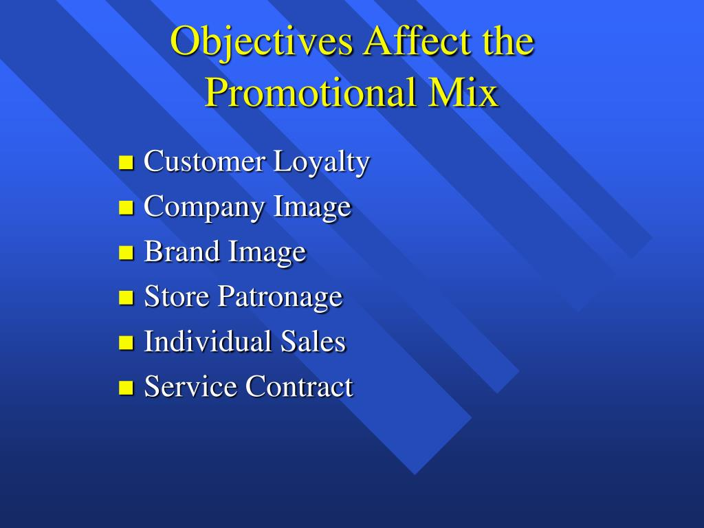 Objectives Affect the Promotional Mix