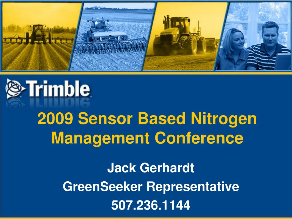 2009 sensor based nitrogen management conference l.