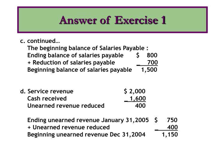 Answer of exercise 13
