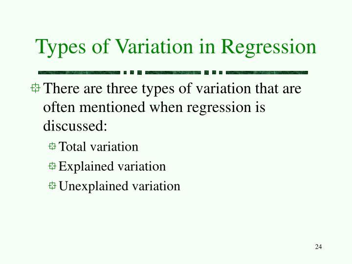 Types of Variation in Regression
