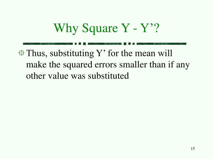 Why Square Y - Y'?