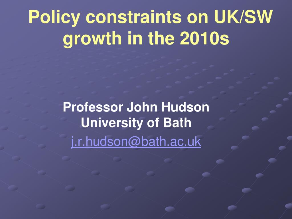 policy constraints on uk sw growth in the 2010s