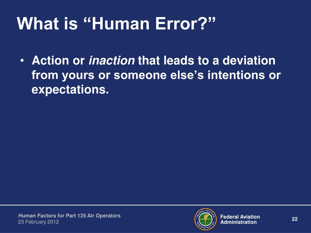 "What is ""Human Error?"""