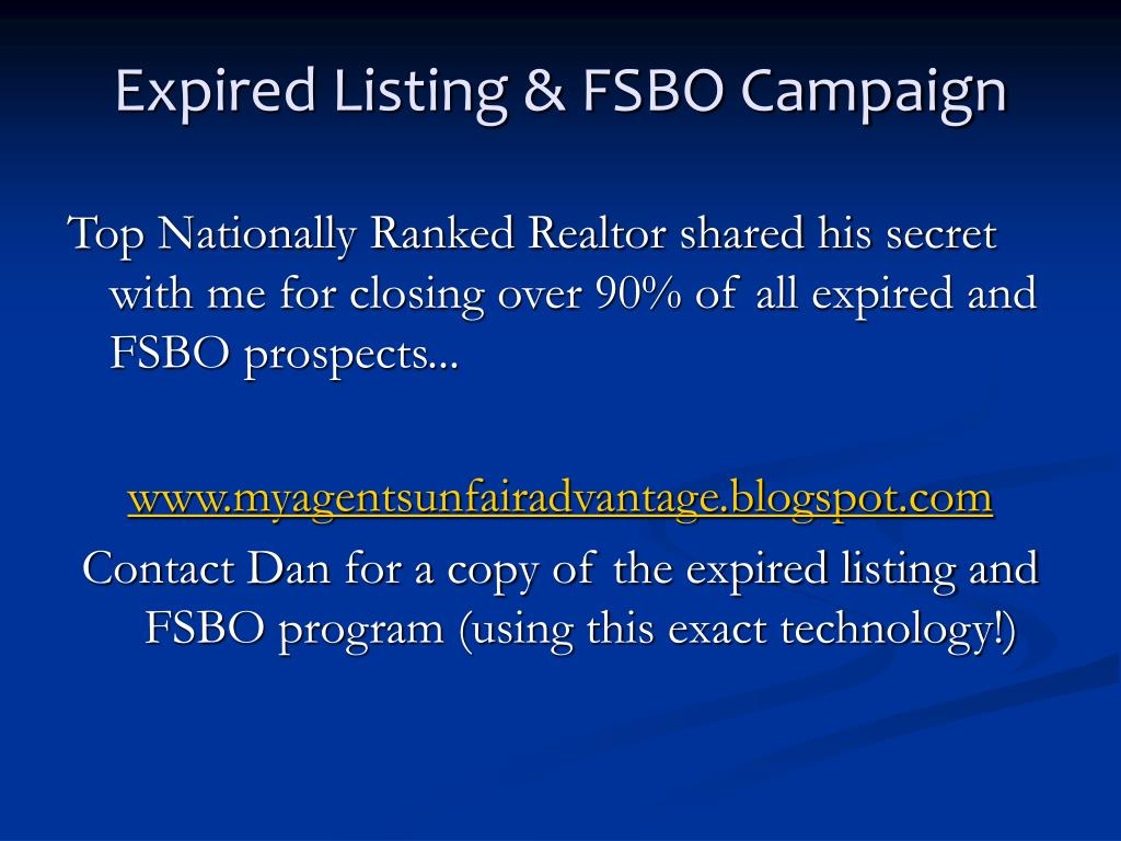 Expired Listing & FSBO Campaign