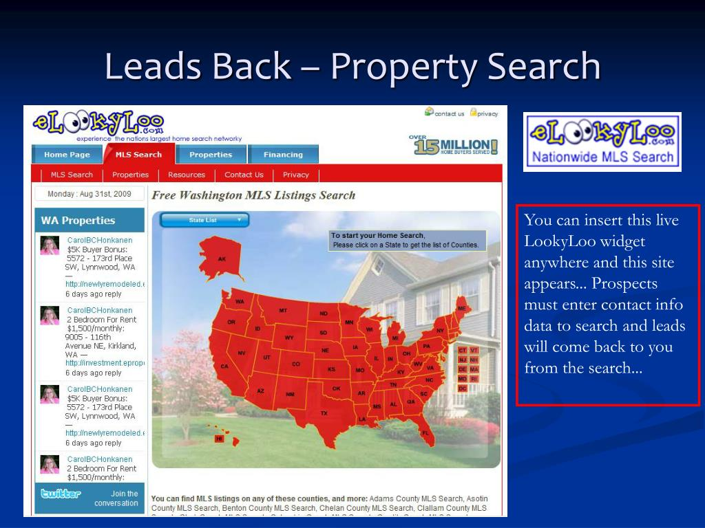 Leads Back – Property Search