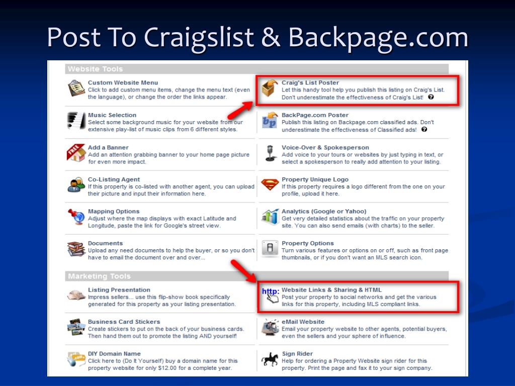 Post To Craigslist & Backpage.com