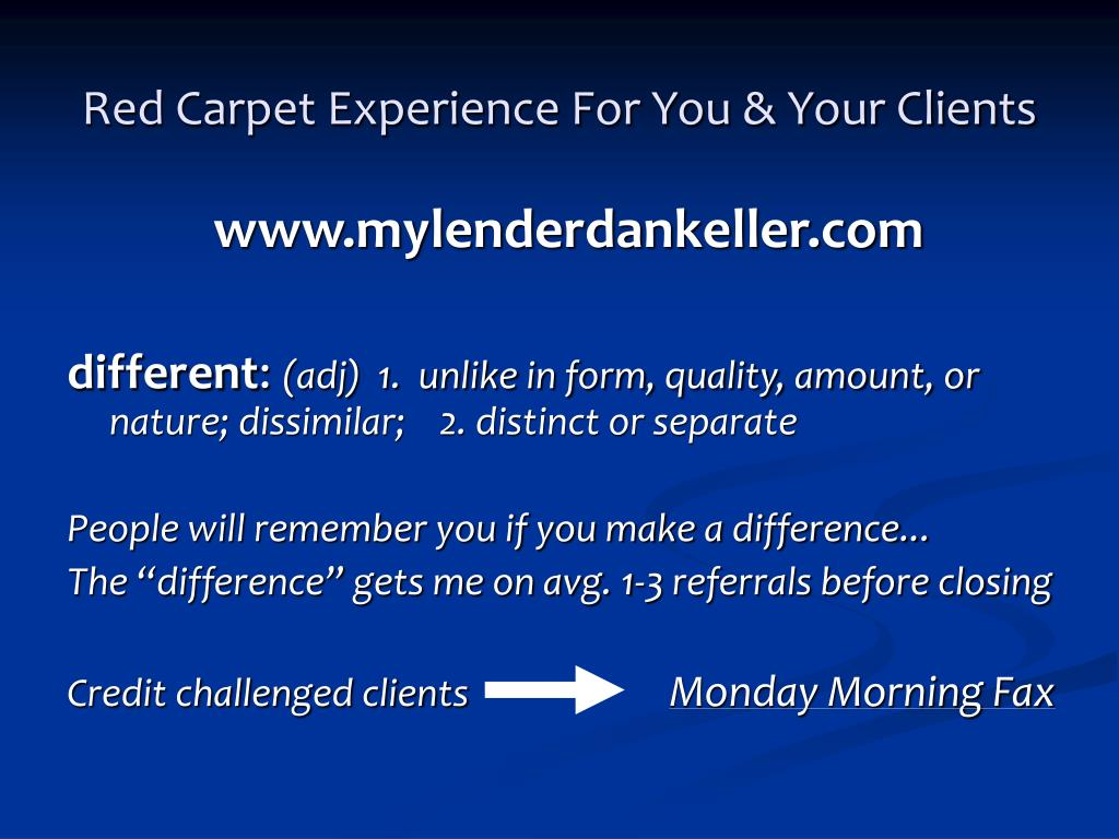Red Carpet Experience For You & Your Clients