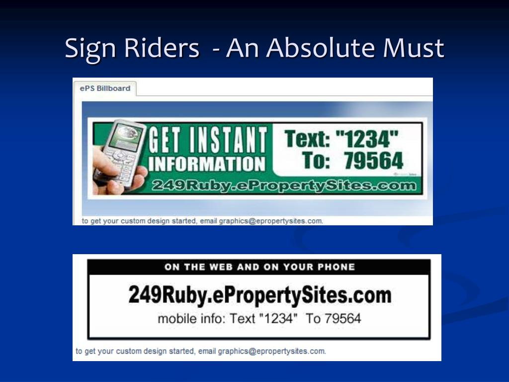 Sign Riders  - An Absolute Must